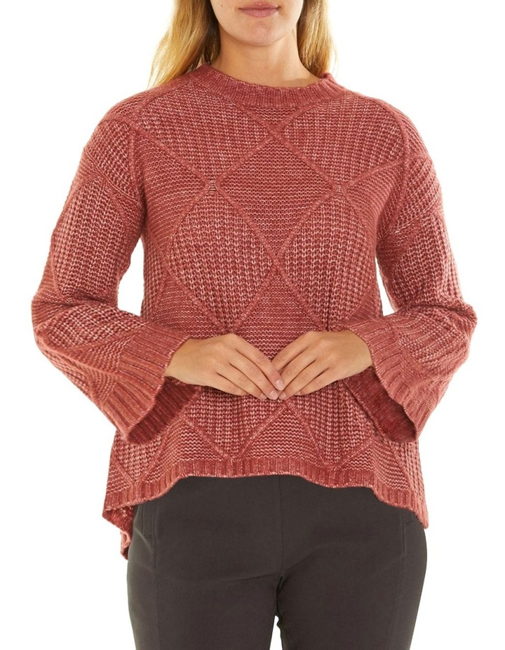 Long Sleeve Fleck Cable Sweater image 1