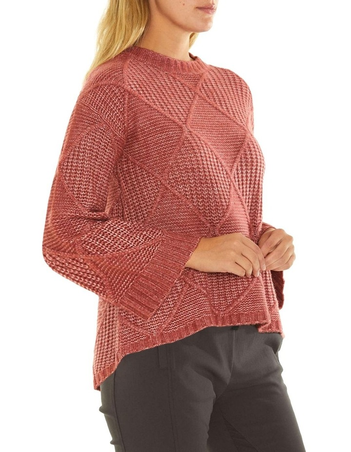 Long Sleeve Fleck Cable Sweater image 2