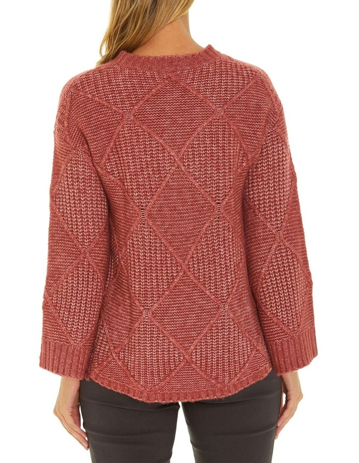 Long Sleeve Fleck Cable Sweater image 3