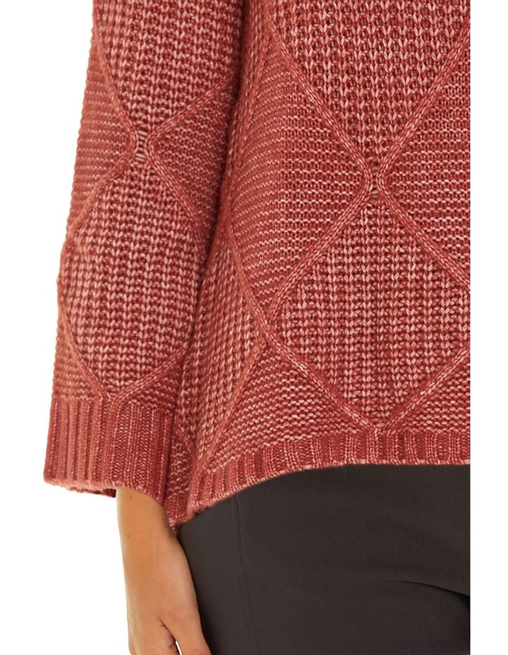 Long Sleeve Fleck Cable Sweater image 4