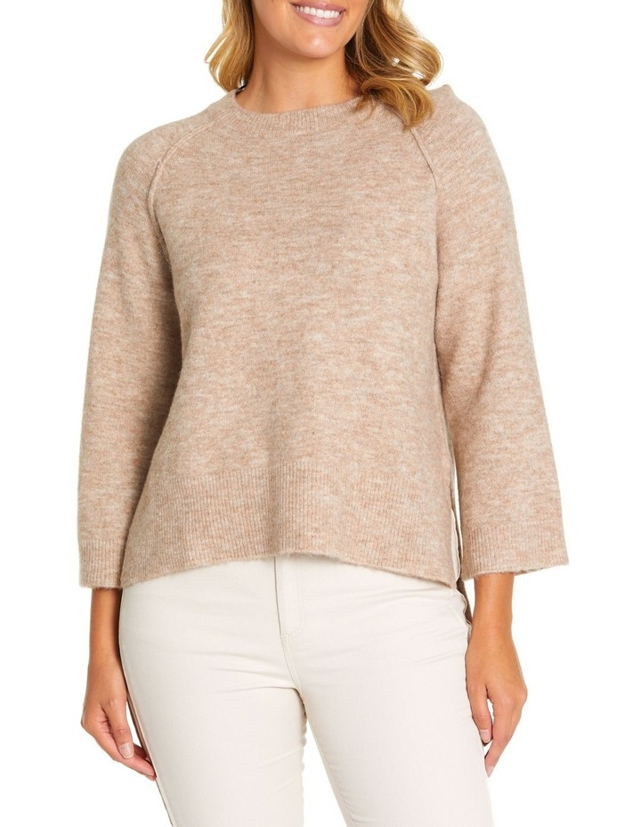 3/4 Relaxed Knit Sweater image 1