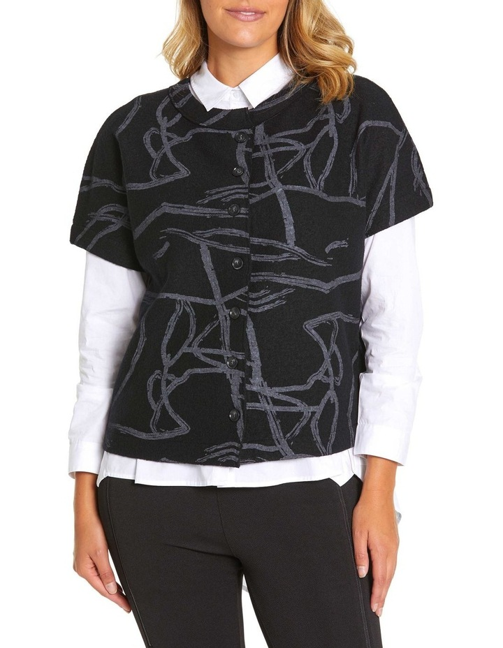 Short Sleeve Tonal Knit Sweater image 1