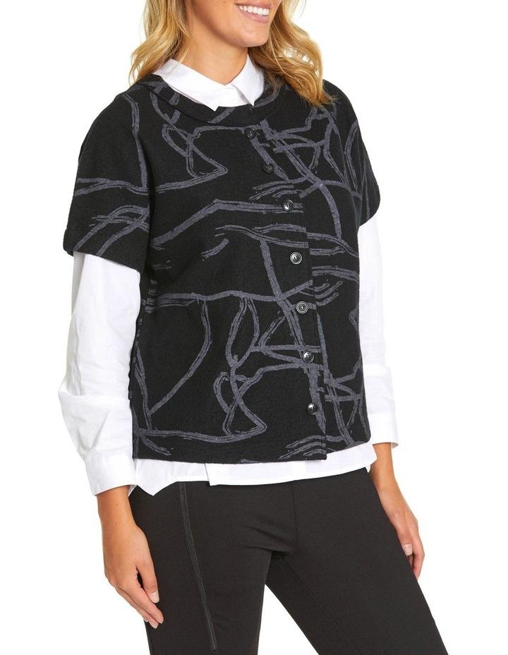 Short Sleeve Tonal Knit Sweater image 2