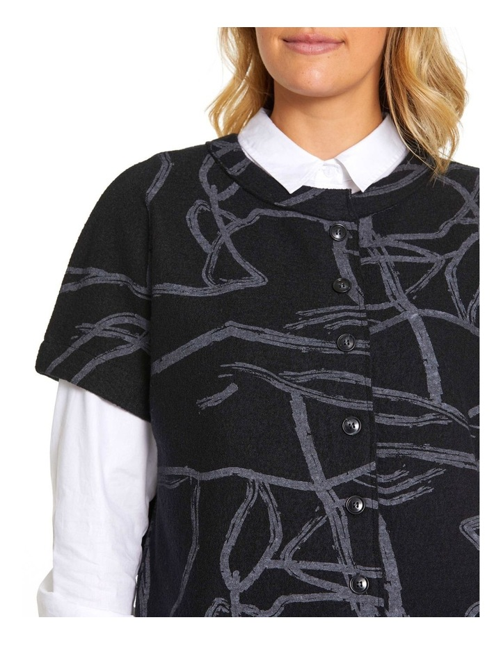 Short Sleeve Tonal Knit Sweater image 4