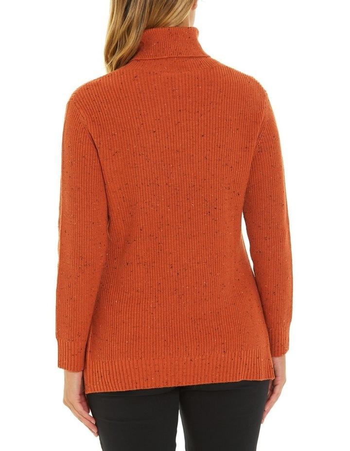 Long Sleeve Fleck Step Hem Sweater image 3