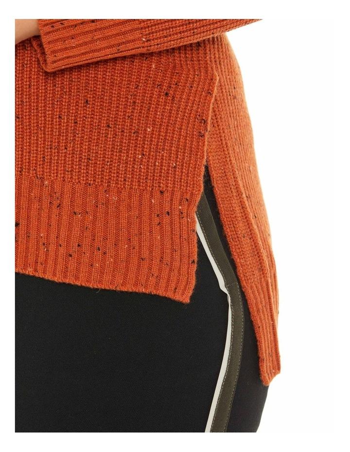 Long Sleeve Fleck Step Hem Sweater image 4