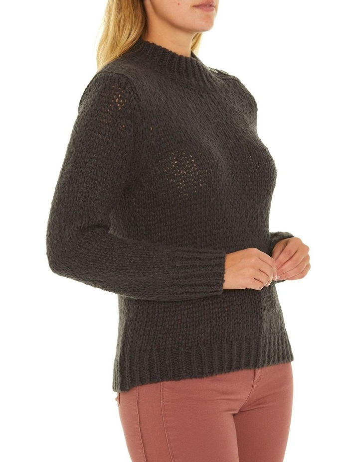 Long Sleeve Button Neck Sweater image 2