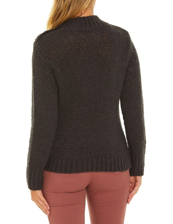 Long Sleeve Button Neck Sweater image 3