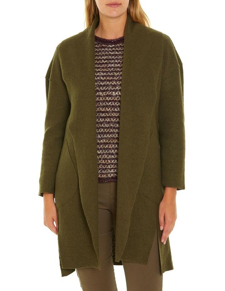 Draped Boiled Wool Coat image 1
