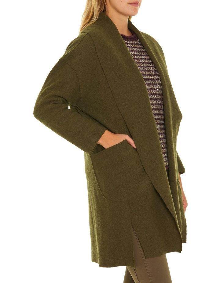 Draped Boiled Wool Coat image 2