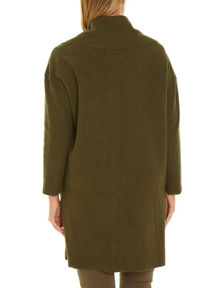 Draped Boiled Wool Coat image 3