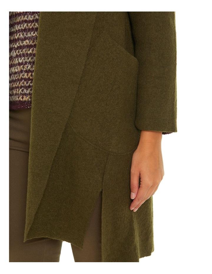 Draped Boiled Wool Coat image 4