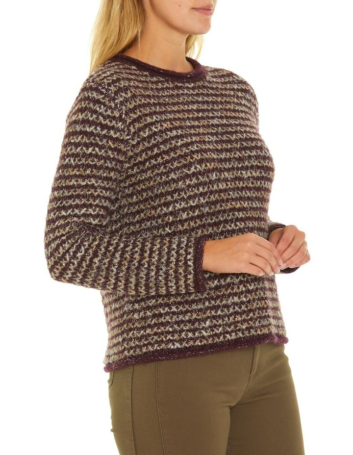 Long Sleeve Cross Knit Sweater image 2