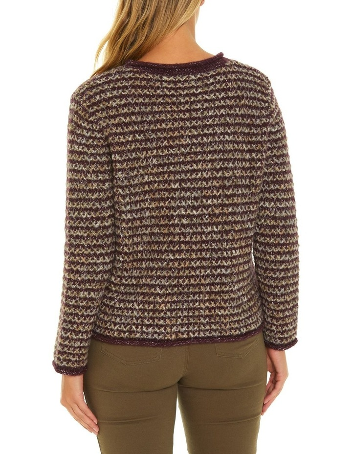 Long Sleeve Cross Knit Sweater image 3