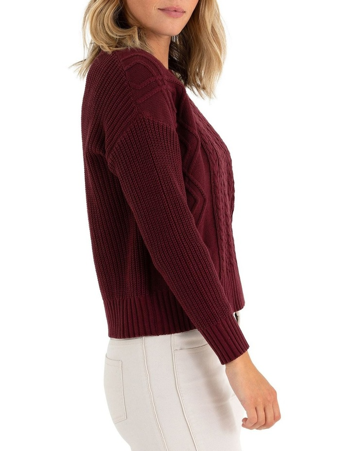 Long Sleeve Cable Knit Sweater image 2