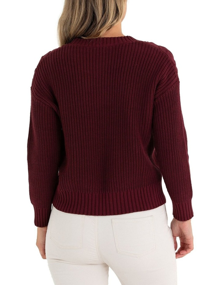 Long Sleeve Cable Knit Sweater image 3