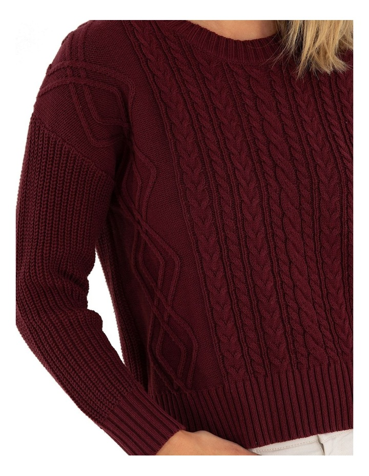 Long Sleeve Cable Knit Sweater image 4