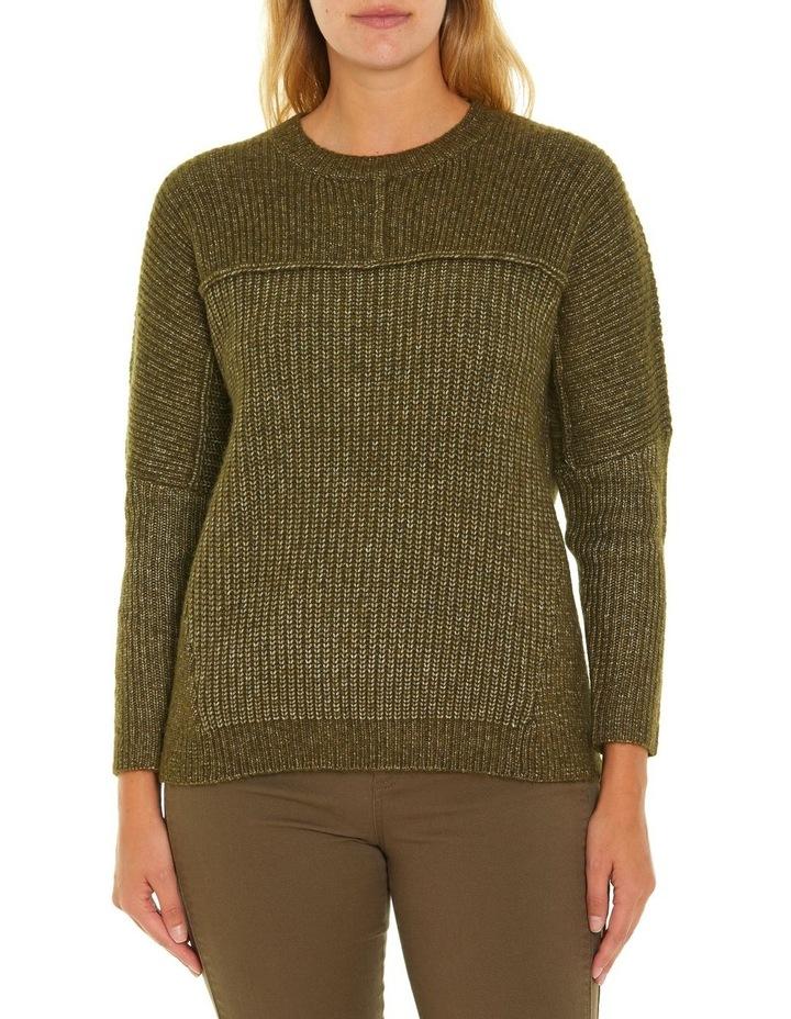 Long Sleeve Chunky Rib Sweater image 1