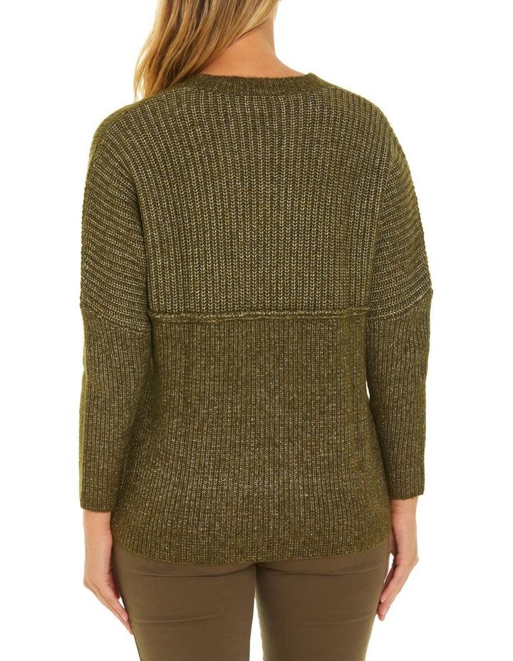 Long Sleeve Chunky Rib Sweater image 3