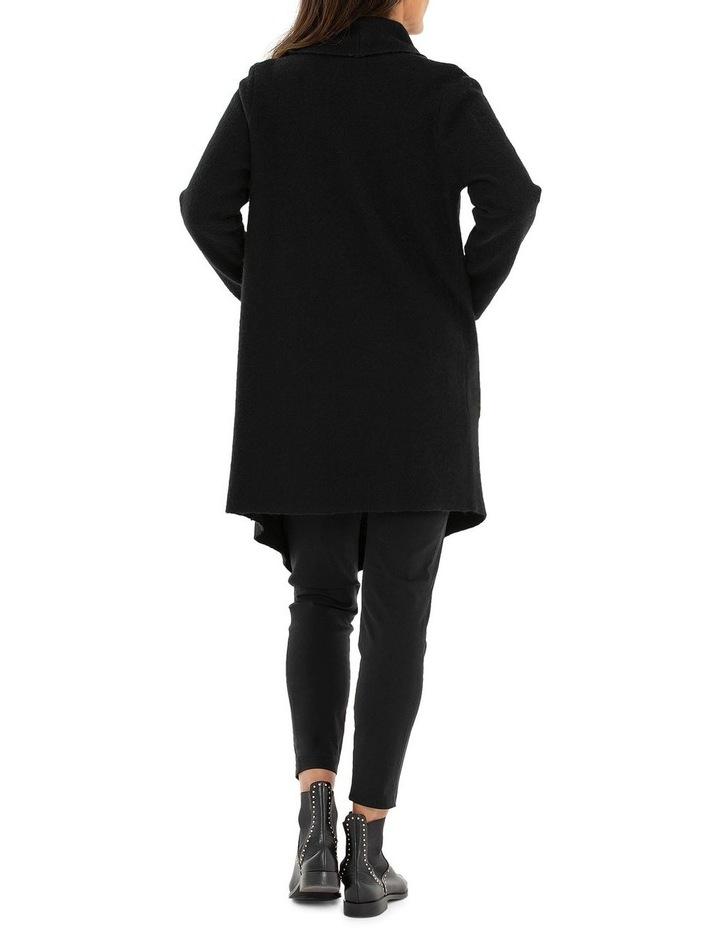 Long Sleeve Wrap Boiled Wool Coat image 2