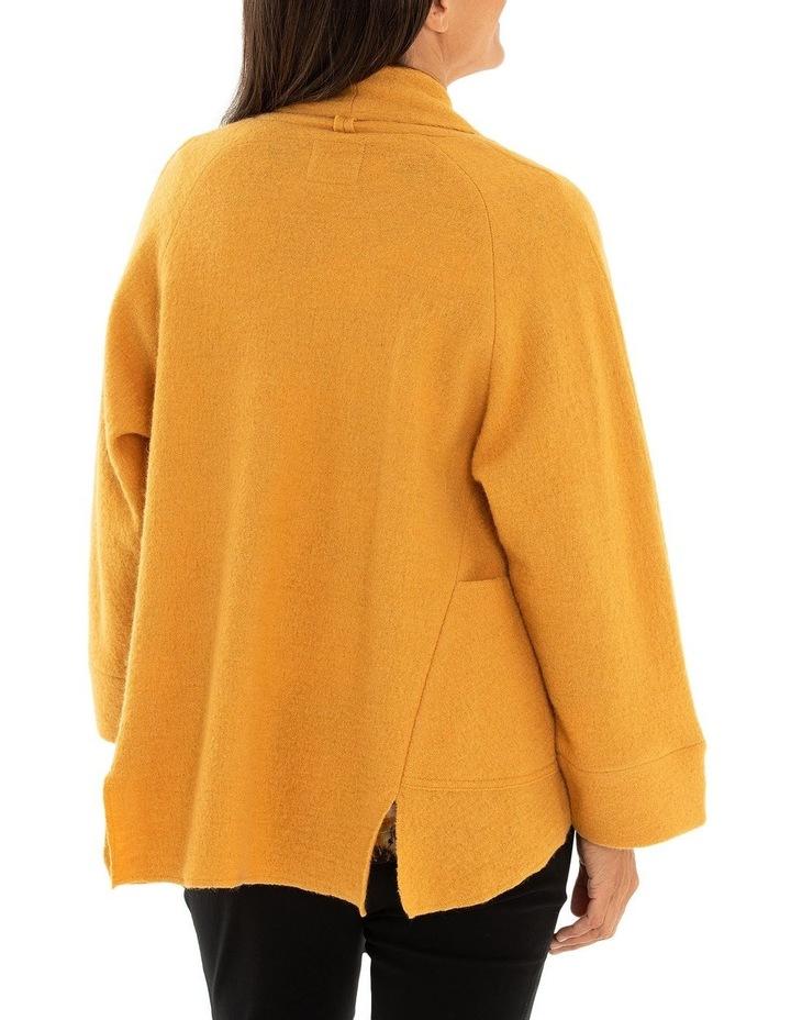 Long Sleeve Cropped Boiled Wool Coat image 2