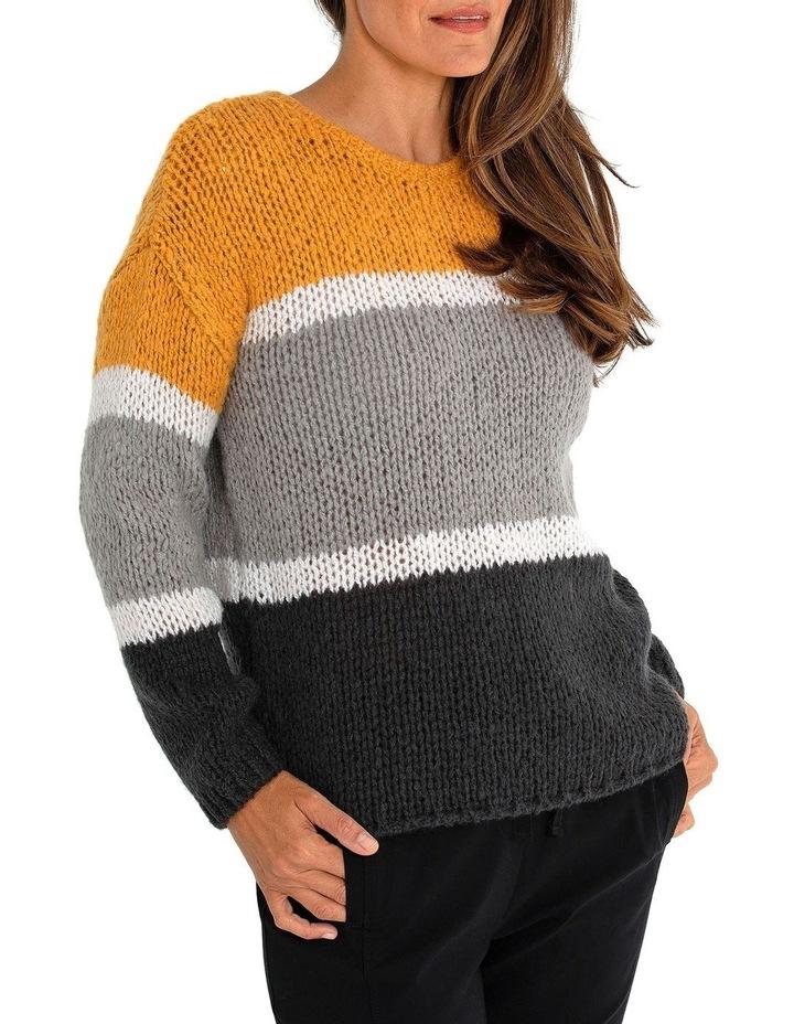 Long Sleeve Block Stripe Sweater image 1