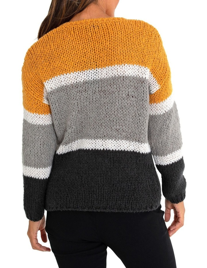 Long Sleeve Block Stripe Sweater image 2
