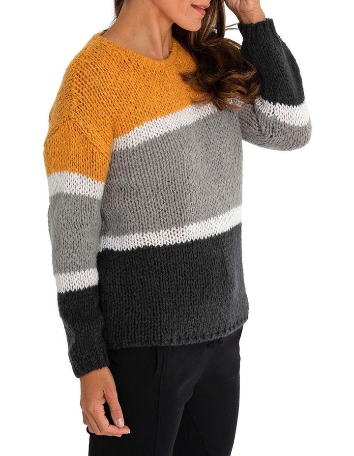 Long Sleeve Block Stripe Sweater image 3