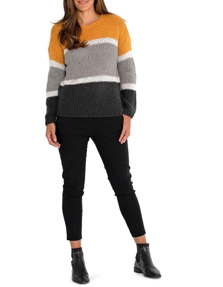 Long Sleeve Block Stripe Sweater image 5
