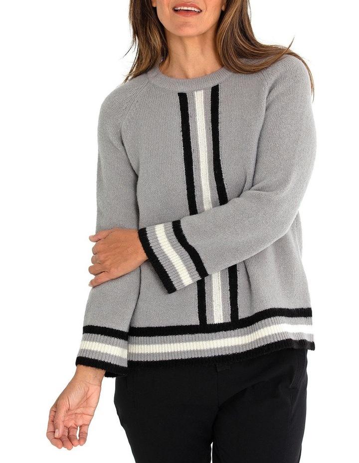 Long Sleeve Stripe Sweater image 1