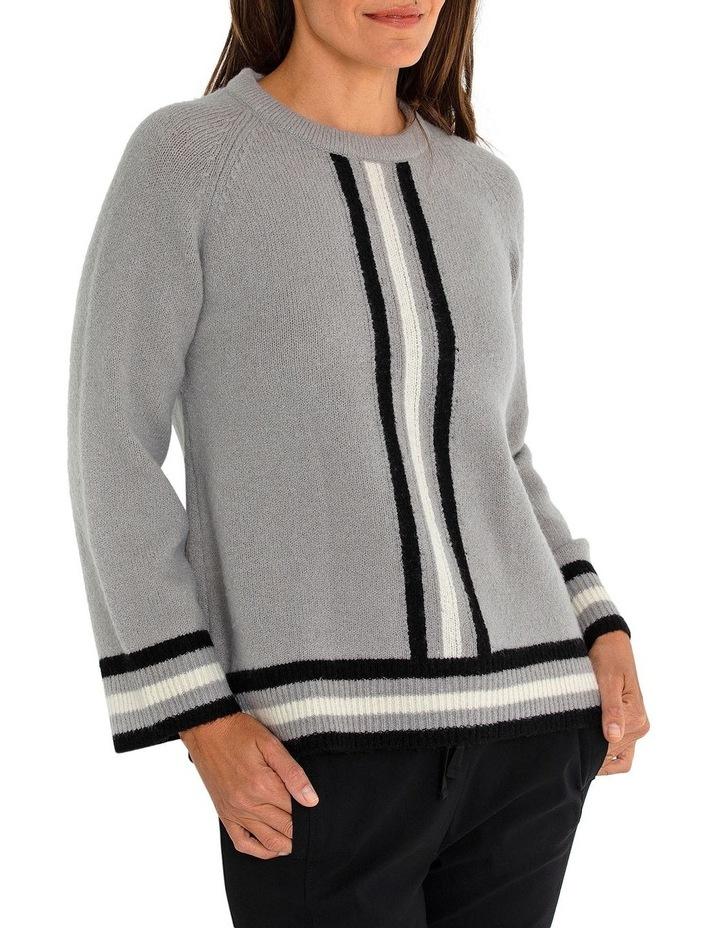 Long Sleeve Stripe Sweater image 3