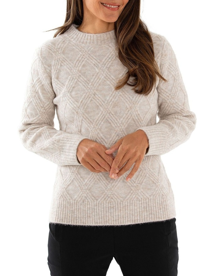Long Sleeve Multi Cable Sweater image 1