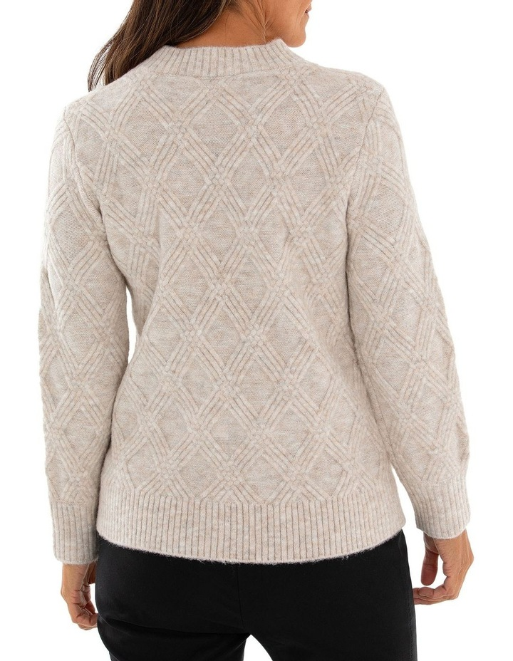 Long Sleeve Multi Cable Sweater image 2