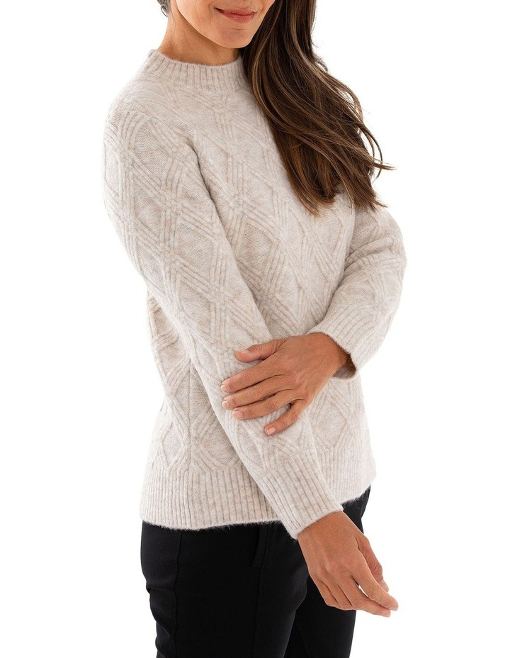 Long Sleeve Multi Cable Sweater image 3