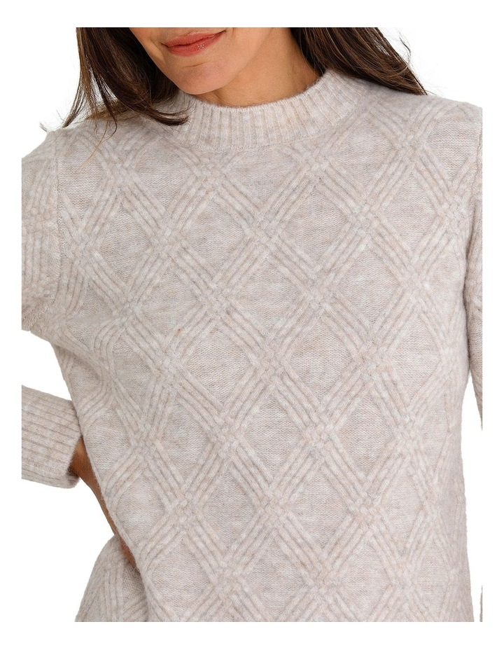 Long Sleeve Multi Cable Sweater image 4