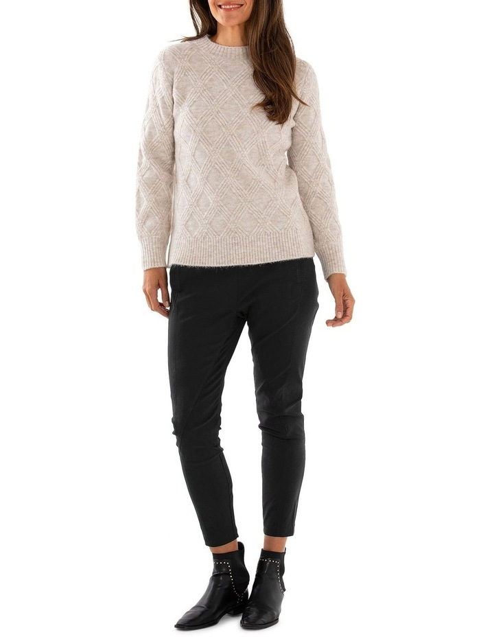 Long Sleeve Multi Cable Sweater image 5