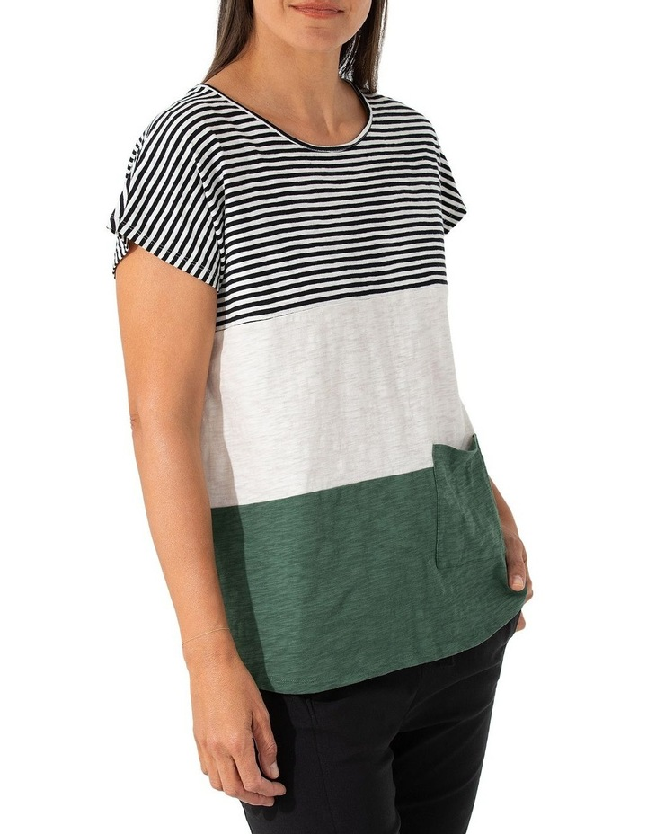 Short Sleeve Pigment Stripe Tee image 3