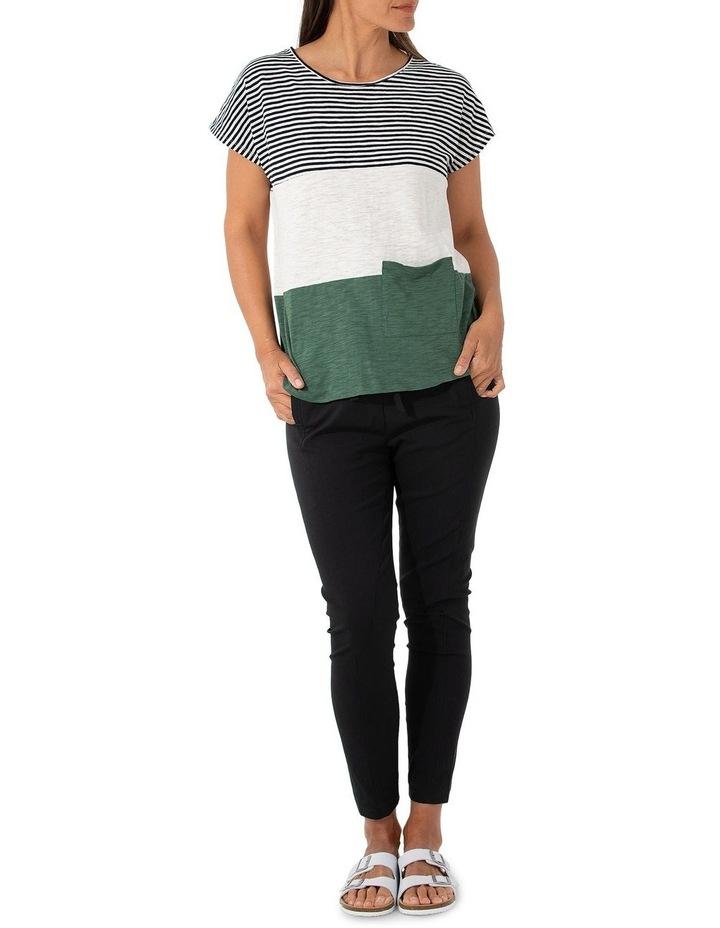 Short Sleeve Pigment Stripe Tee image 5