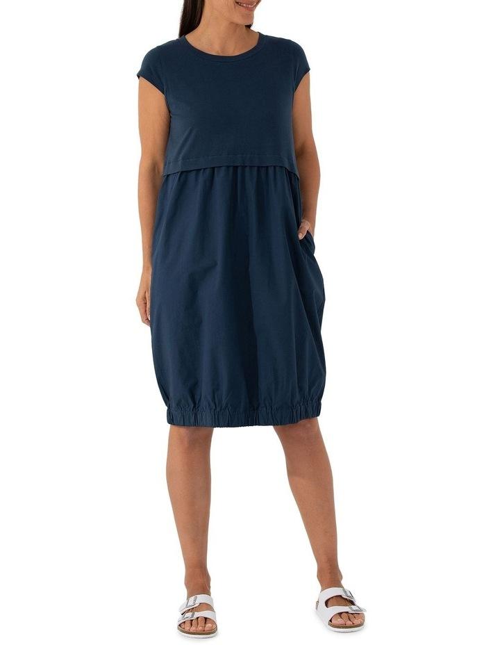 Short Sleeve Contrast Dress image 1