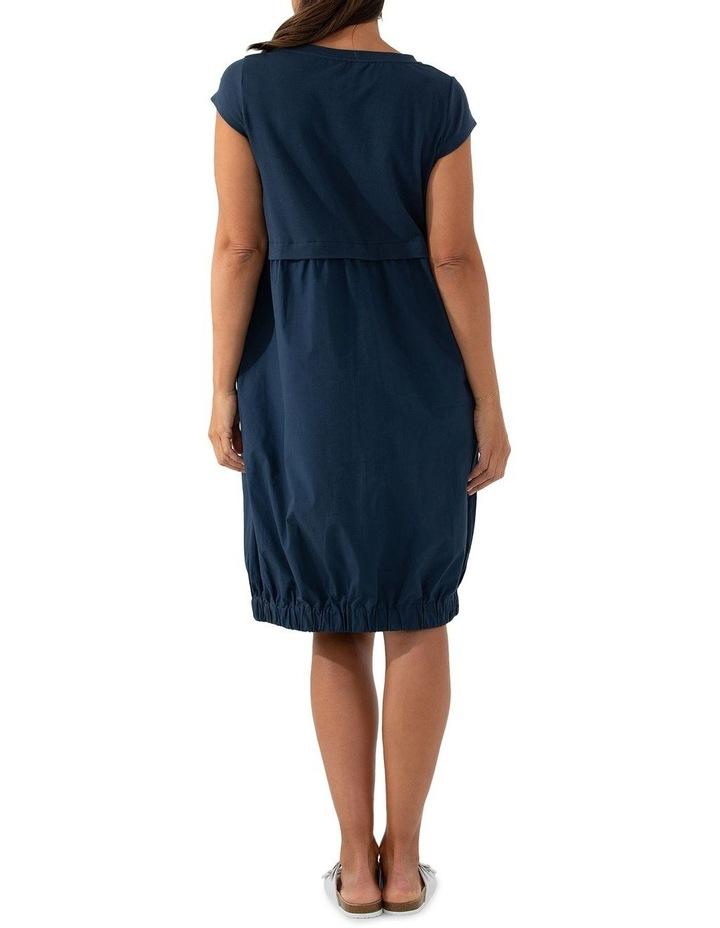 Short Sleeve Contrast Dress image 3