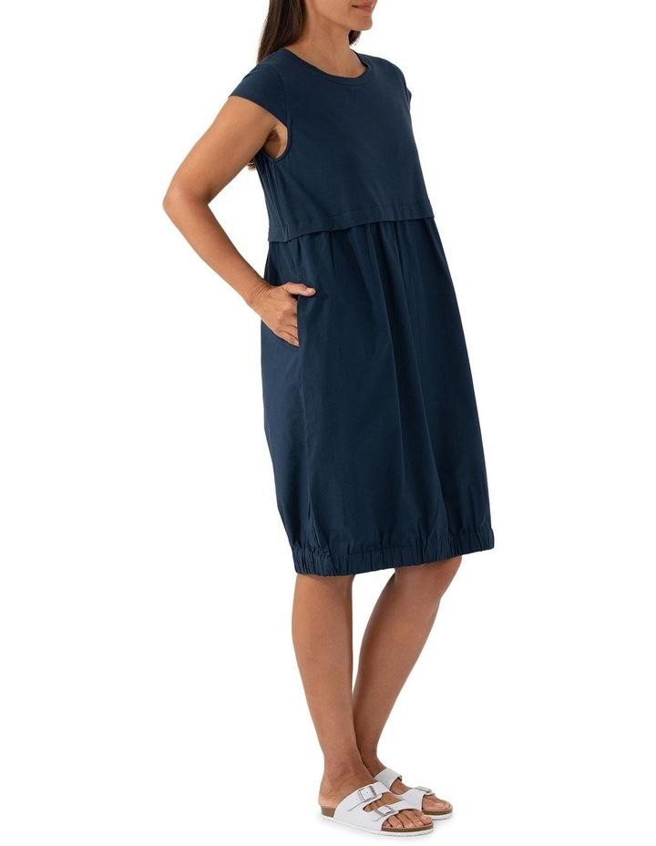 Short Sleeve Contrast Dress image 4