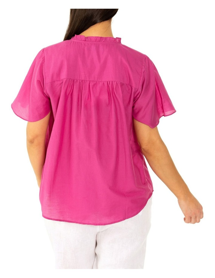 Short Sleeve Floaty Top Orchid Flower image 2