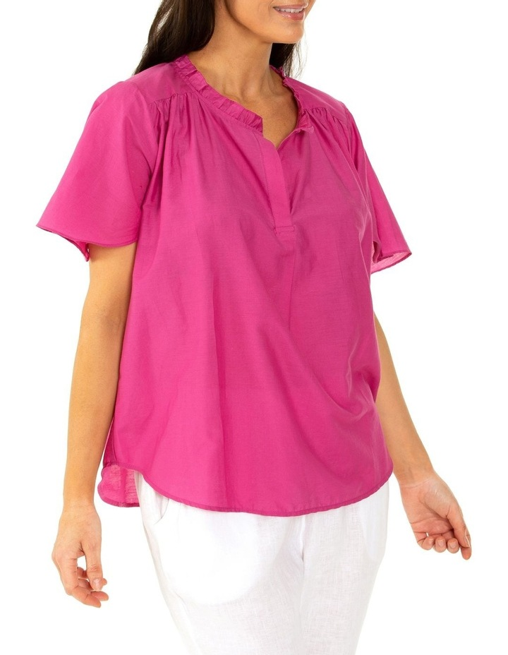 Short Sleeve Floaty Top Orchid Flower image 3