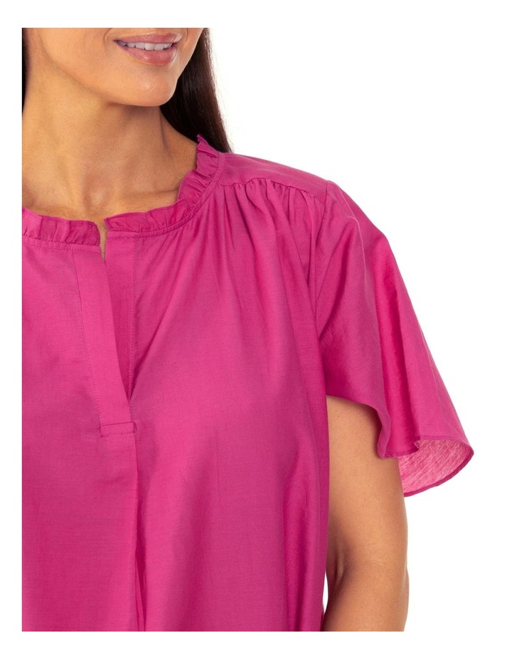 Short Sleeve Floaty Top Orchid Flower image 4