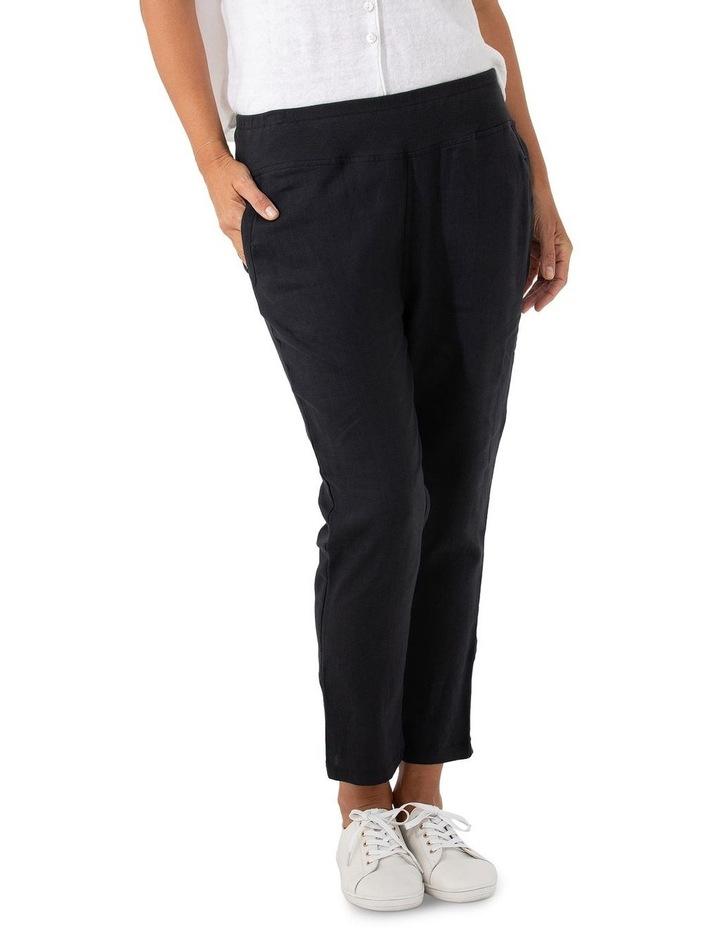 3/4 Rib Linen Pant image 1
