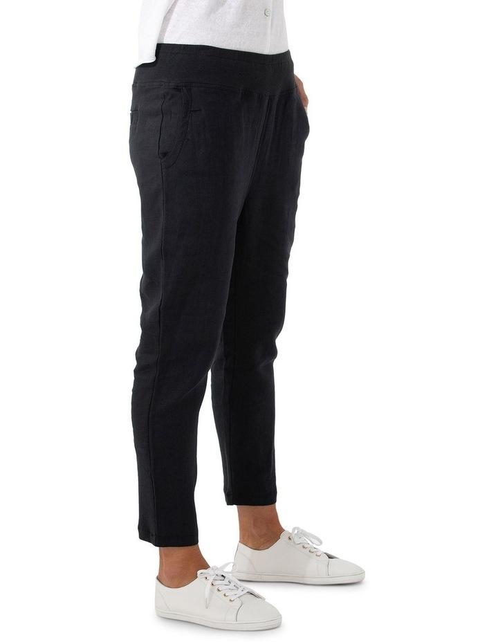 3/4 Rib Linen Pant image 3