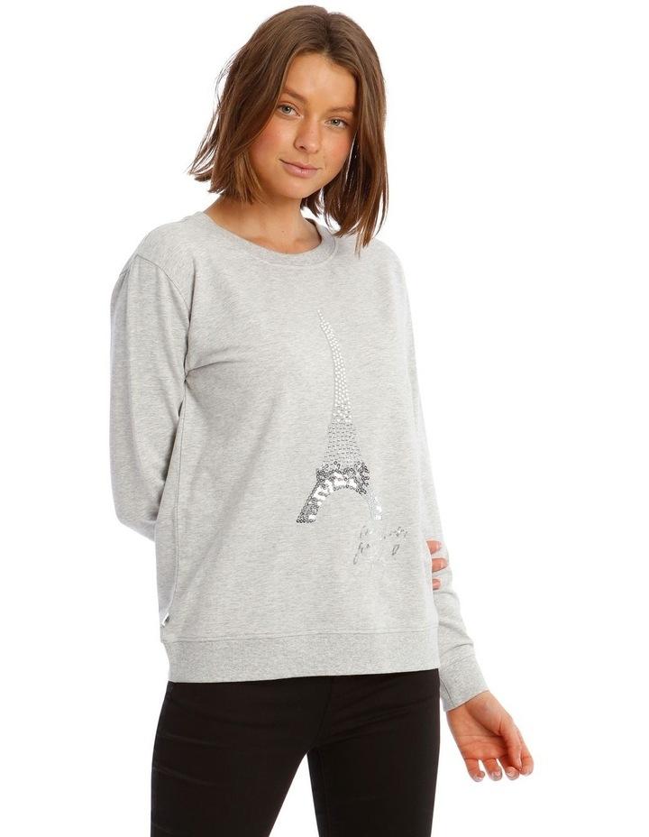 Sequin Eiffel Tower Sweatshirt image 1