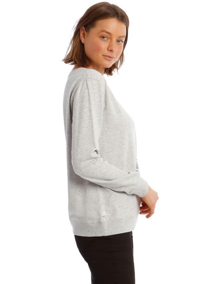 Sequin Eiffel Tower Sweatshirt image 2