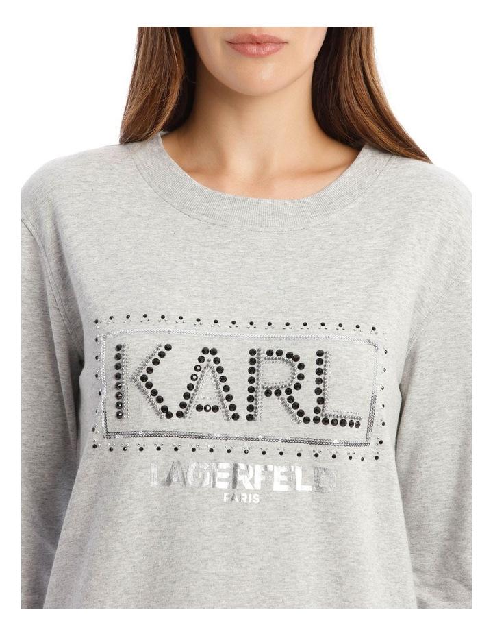Sequin Karl Sweatshirt image 4