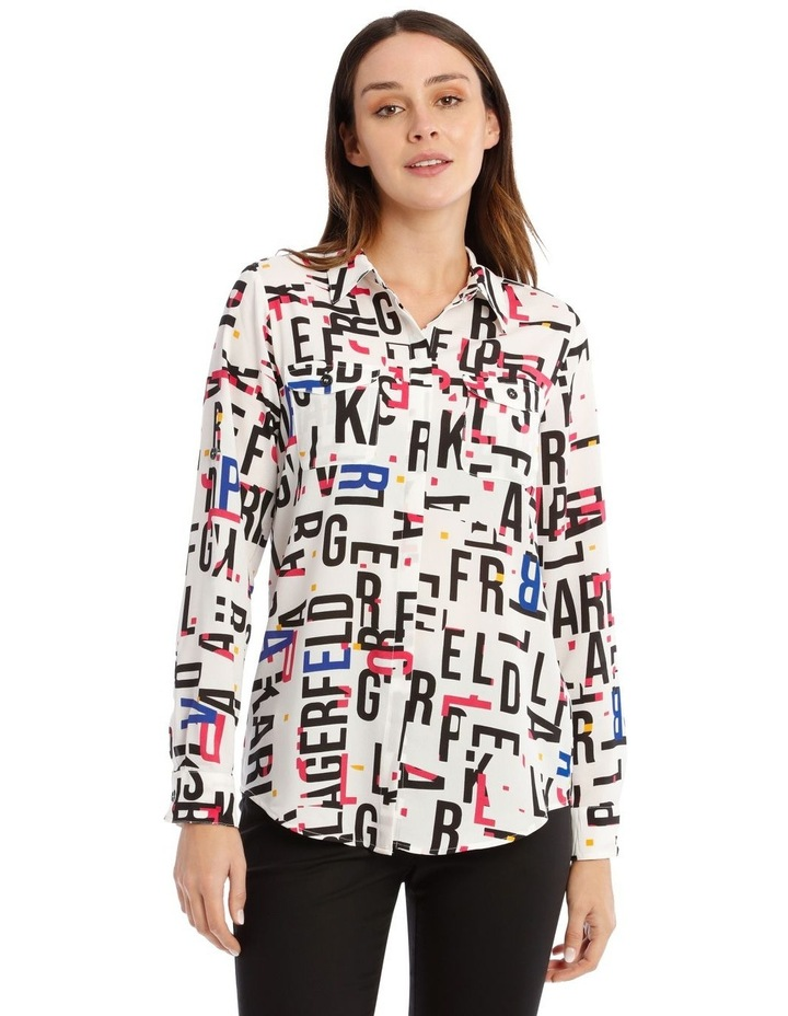Whimsical Shirt with Bold Letters image 1
